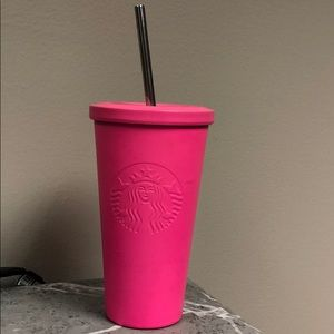 Hot pink Starbucks cup 16oz